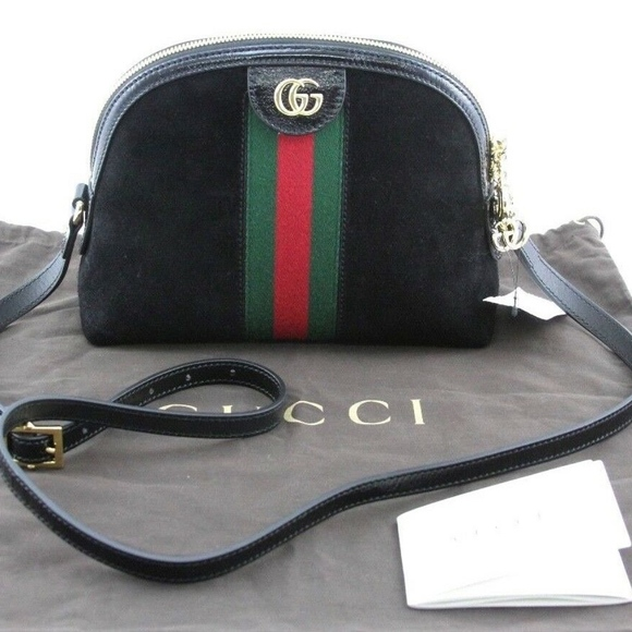 a67e2500a7f8 Gucci Bags | Ophidia Black Suede Patent Leather Small Bag | Poshmark